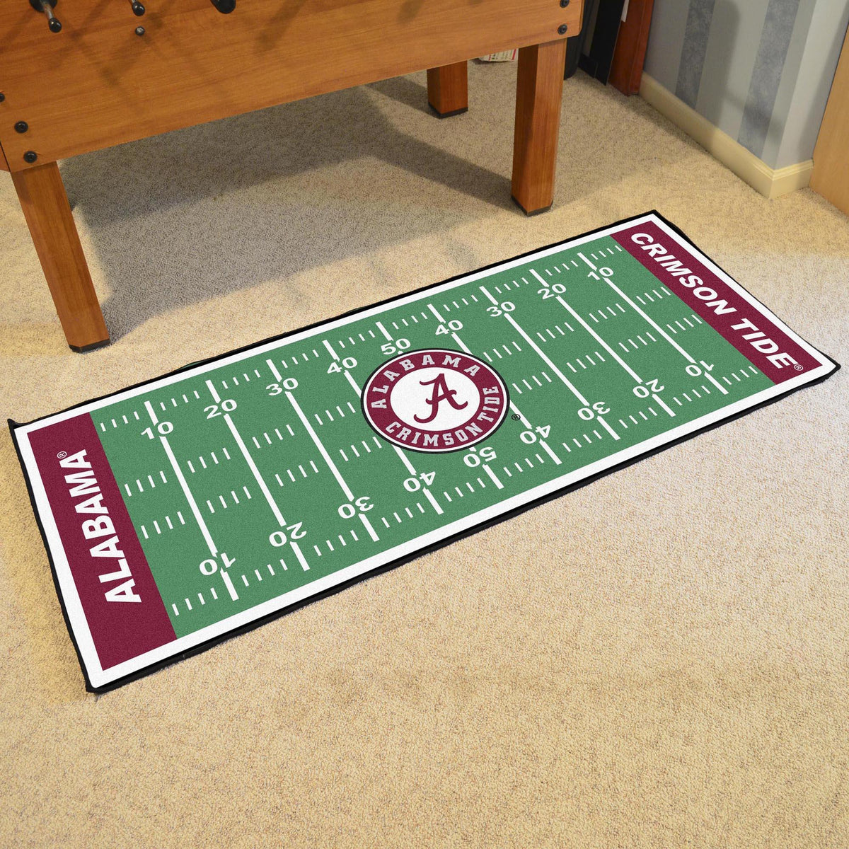 Collegiate - Football Field Runner Collegiate Mats, Rectangular Mats, Football Field Runner, Collegiate, Home Fan Mats Alabama