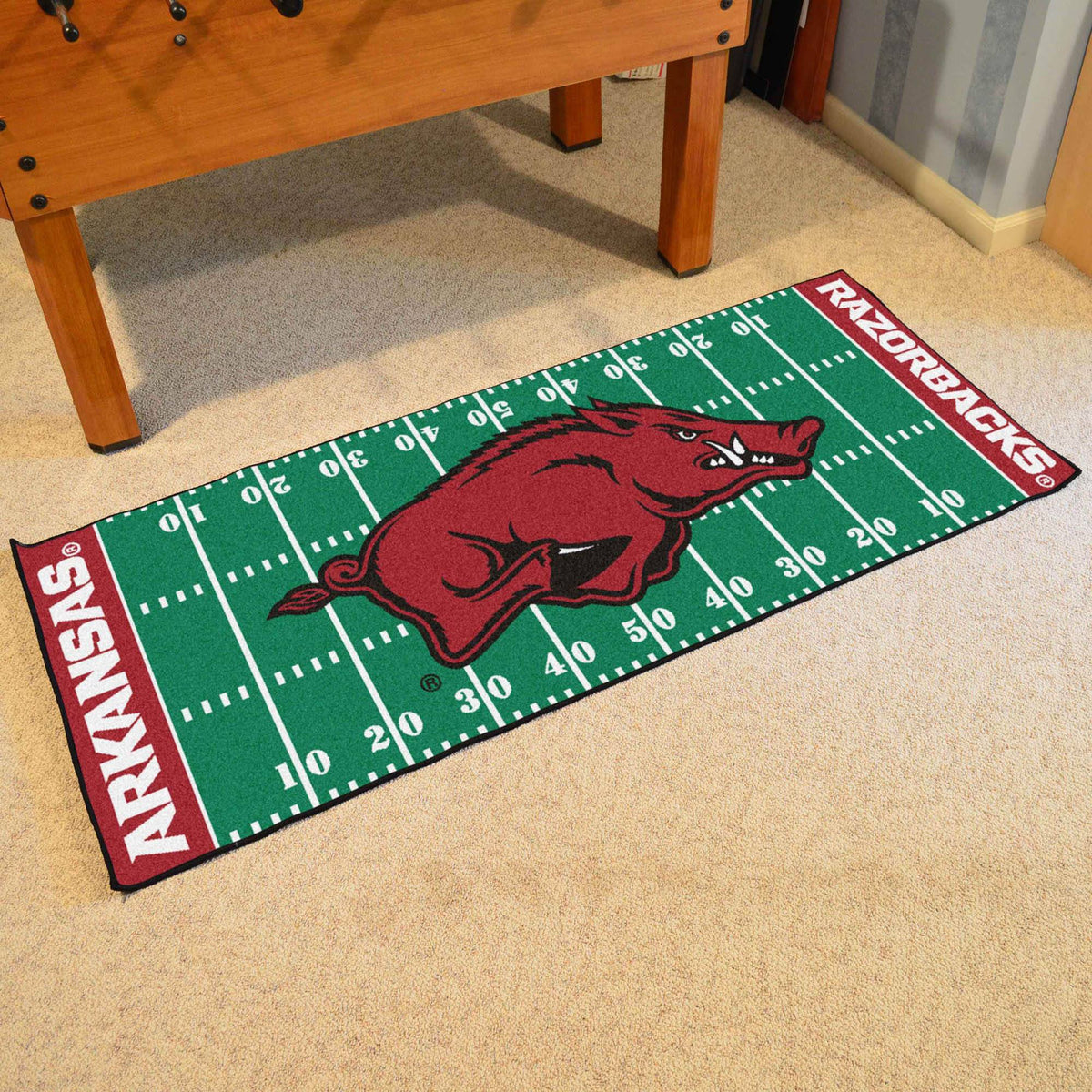 Collegiate - Football Field Runner Collegiate Mats, Rectangular Mats, Football Field Runner, Collegiate, Home Fan Mats Arkansas