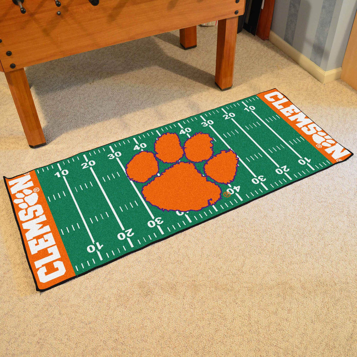 Collegiate - Football Field Runner Collegiate Mats, Rectangular Mats, Football Field Runner, Collegiate, Home Fan Mats Clemson