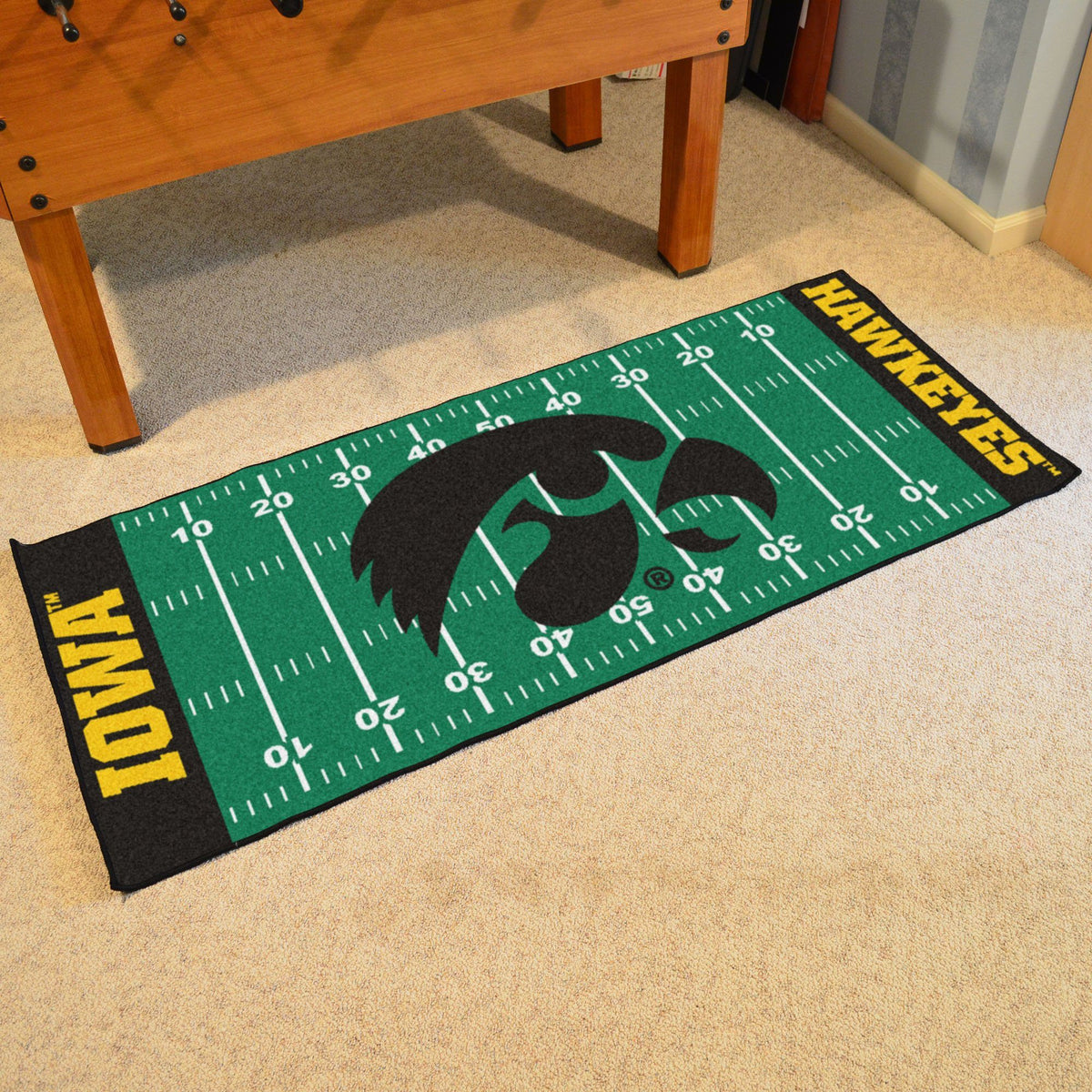 Collegiate - Football Field Runner Collegiate Mats, Rectangular Mats, Football Field Runner, Collegiate, Home Fan Mats Iowa