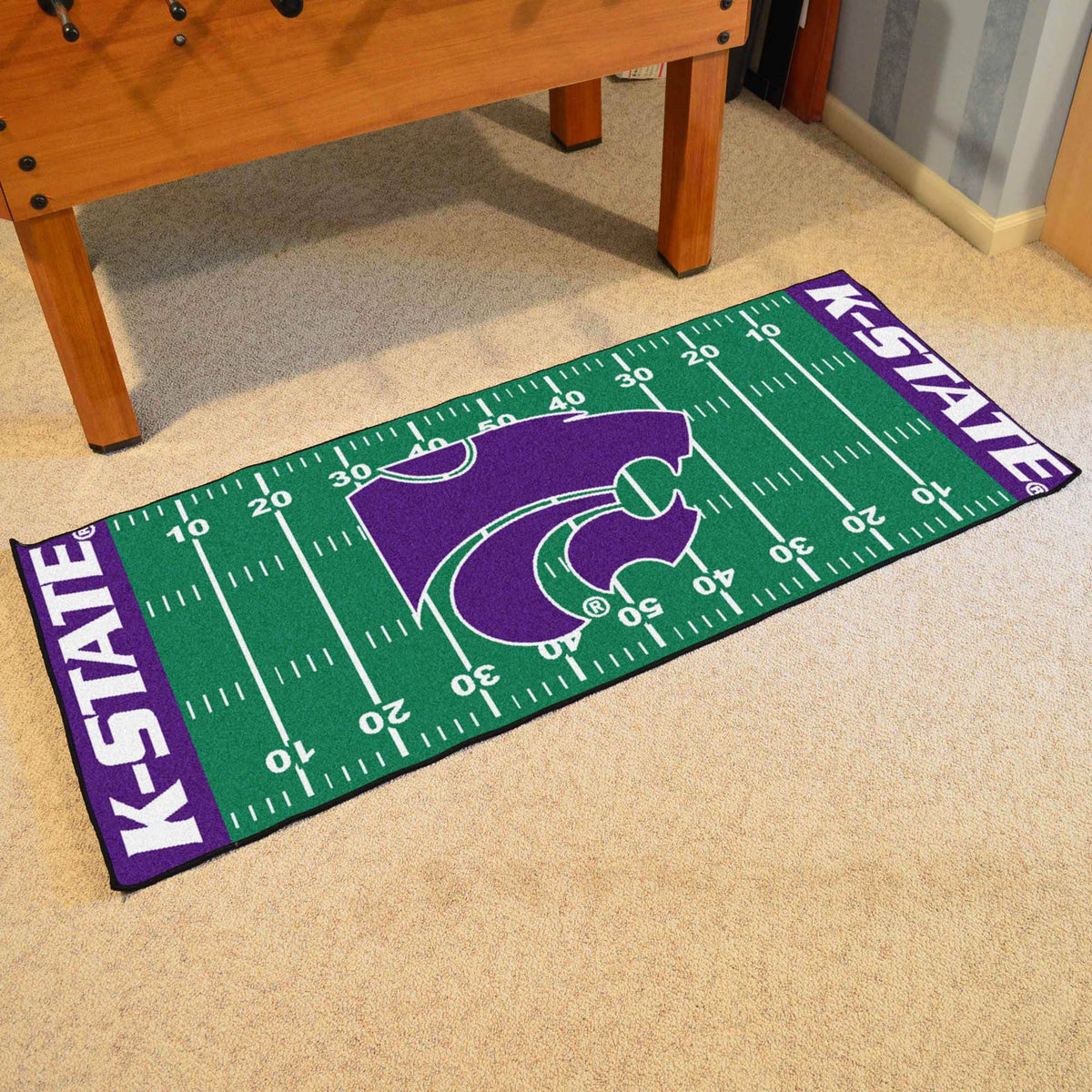 Collegiate - Football Field Runner Collegiate Mats, Rectangular Mats, Football Field Runner, Collegiate, Home Fan Mats Kansas State