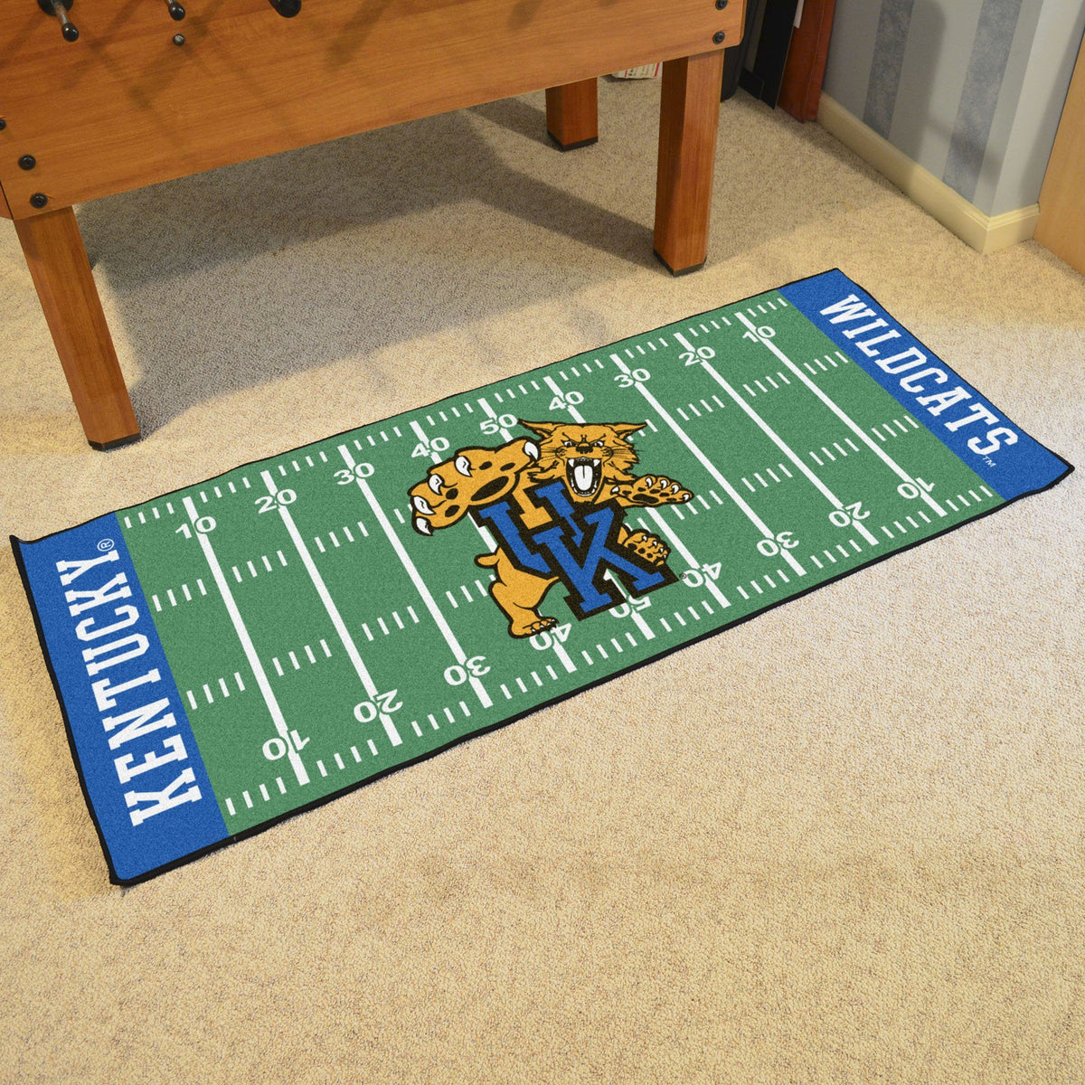 Collegiate - Football Field Runner Collegiate Mats, Rectangular Mats, Football Field Runner, Collegiate, Home Fan Mats Kentucky