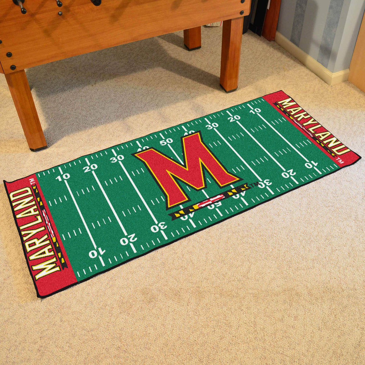 Collegiate - Football Field Runner Collegiate Mats, Rectangular Mats, Football Field Runner, Collegiate, Home Fan Mats Maryland