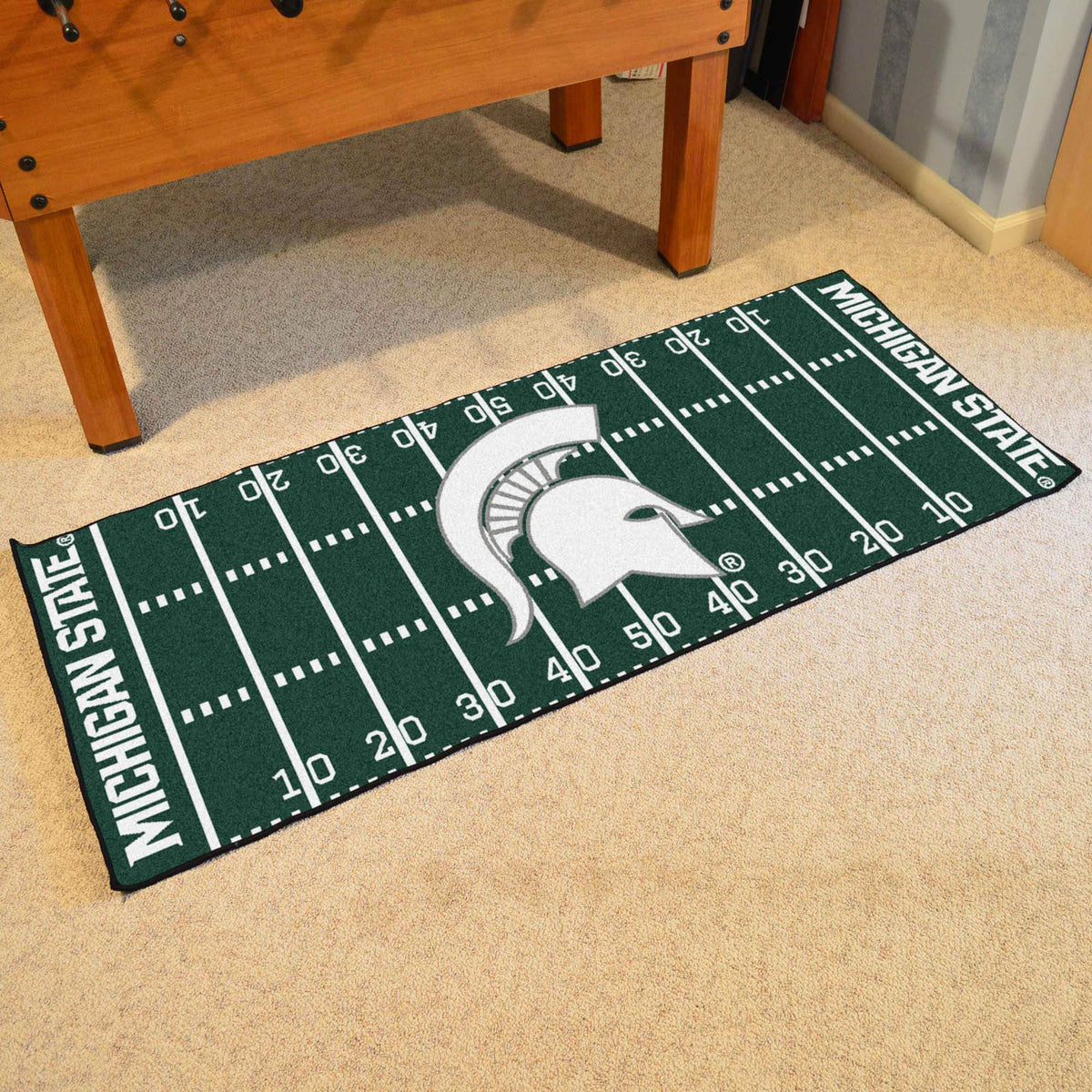 Collegiate - Football Field Runner Collegiate Mats, Rectangular Mats, Football Field Runner, Collegiate, Home Fan Mats Michigan State