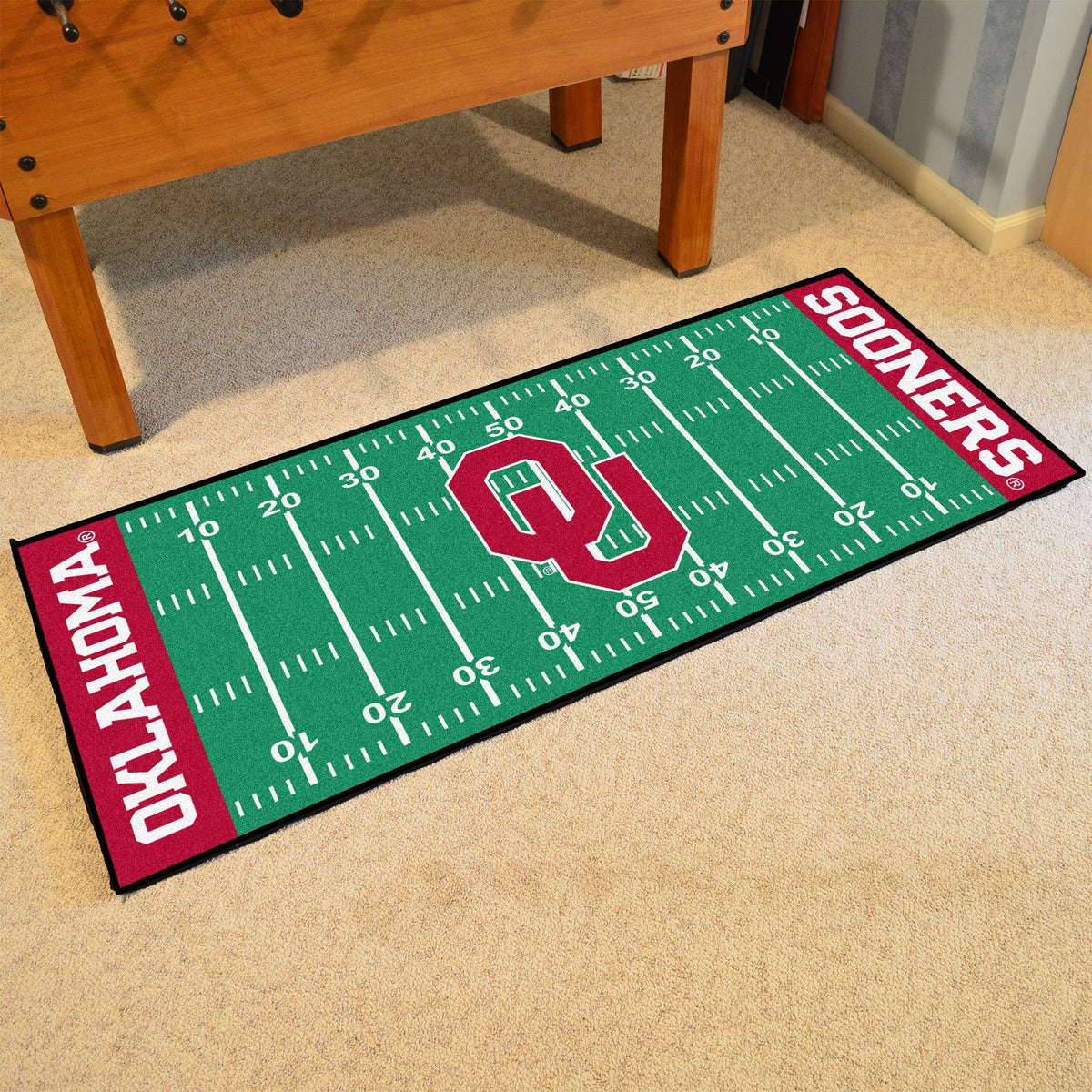 Collegiate - Football Field Runner Collegiate Mats, Rectangular Mats, Football Field Runner, Collegiate, Home Fan Mats Oklahoma