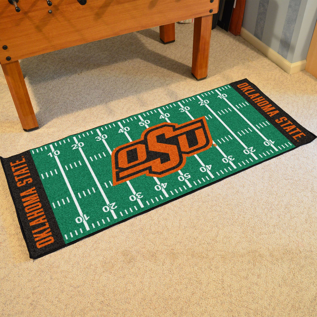 Collegiate - Football Field Runner Collegiate Mats, Rectangular Mats, Football Field Runner, Collegiate, Home Fan Mats Oklahoma State