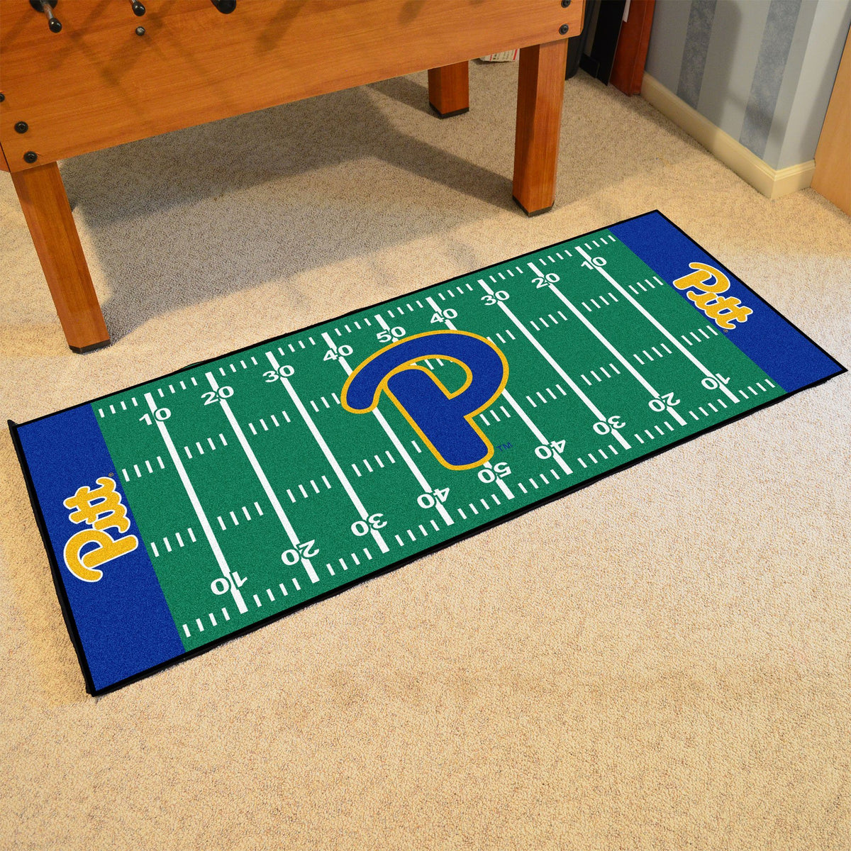 Collegiate - Football Field Runner Collegiate Mats, Rectangular Mats, Football Field Runner, Collegiate, Home Fan Mats Pitt