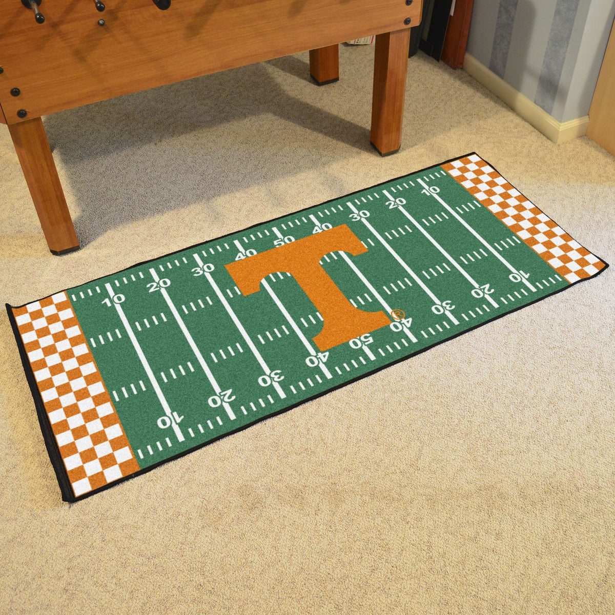 Collegiate - Football Field Runner Collegiate Mats, Rectangular Mats, Football Field Runner, Collegiate, Home Fan Mats Tennessee