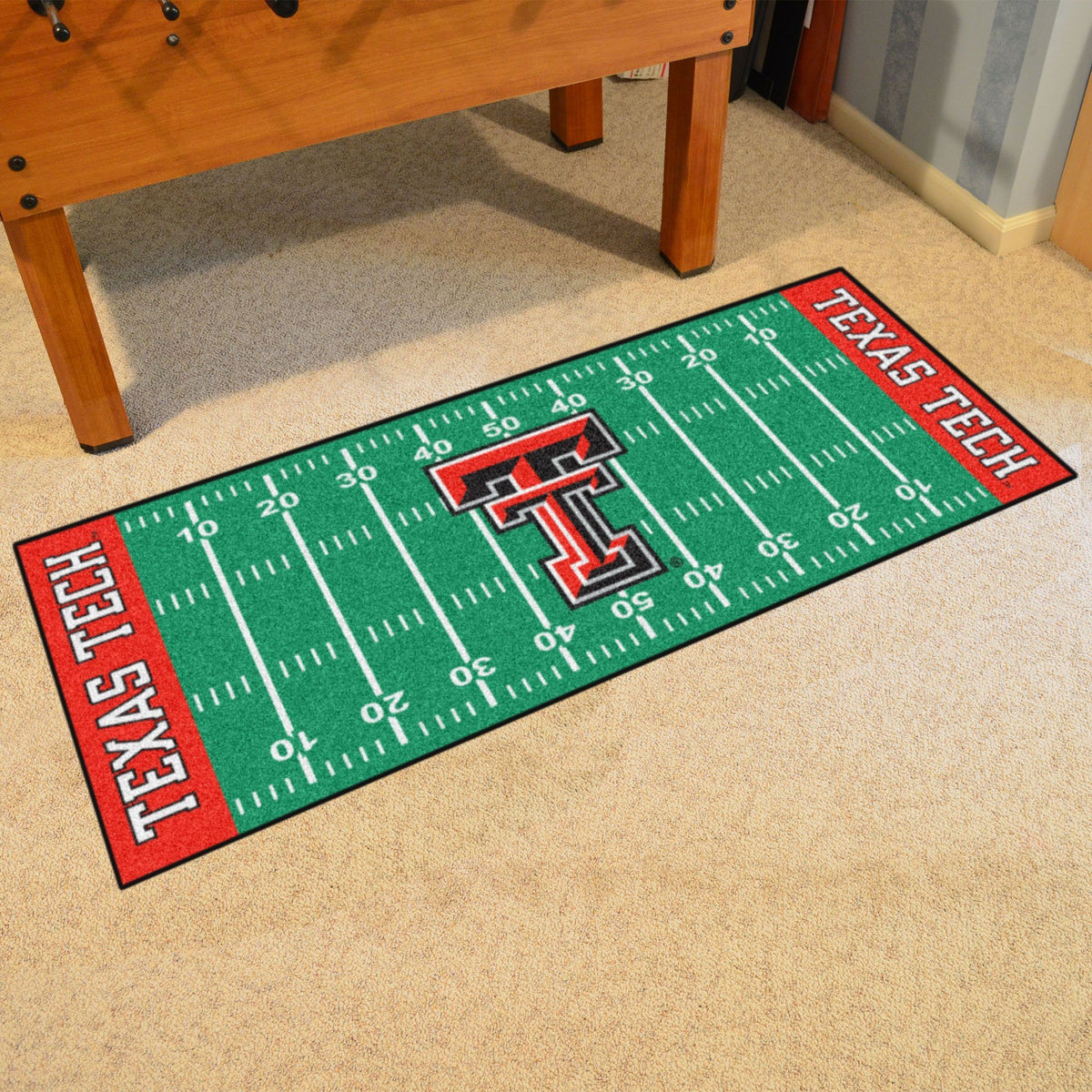 Collegiate - Football Field Runner Collegiate Mats, Rectangular Mats, Football Field Runner, Collegiate, Home Fan Mats Texas Tech