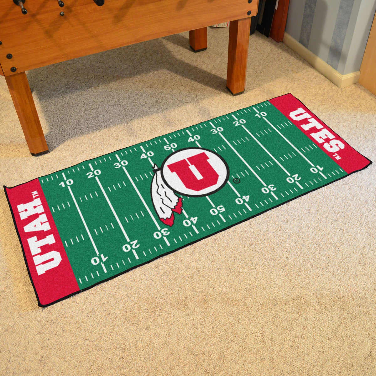 Collegiate - Football Field Runner Collegiate Mats, Rectangular Mats, Football Field Runner, Collegiate, Home Fan Mats Utah