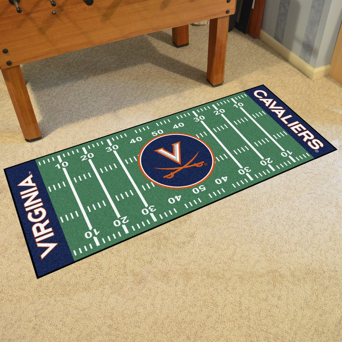 Collegiate - Football Field Runner Collegiate Mats, Rectangular Mats, Football Field Runner, Collegiate, Home Fan Mats Virginia