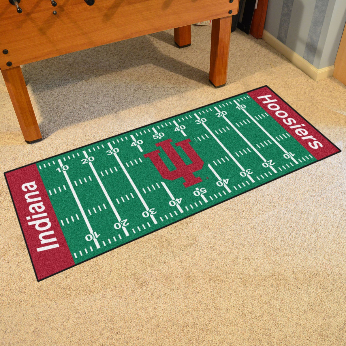 Collegiate - Football Field Runner Collegiate Mats, Rectangular Mats, Football Field Runner, Collegiate, Home Fan Mats Indiana