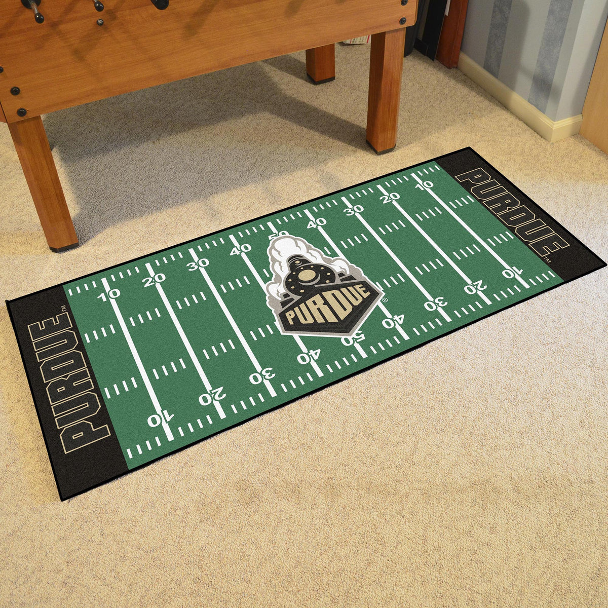 Collegiate - Football Field Runner Collegiate Mats, Rectangular Mats, Football Field Runner, Collegiate, Home Fan Mats Purdue