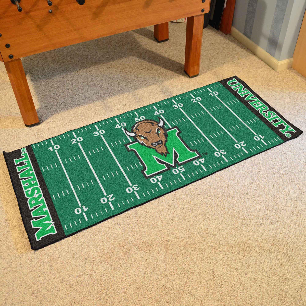 Collegiate - Football Field Runner Collegiate Mats, Rectangular Mats, Football Field Runner, Collegiate, Home Fan Mats Marshall