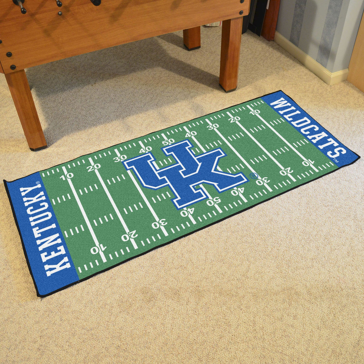 Collegiate - Football Field Runner Collegiate Mats, Rectangular Mats, Football Field Runner, Collegiate, Home Fan Mats Kentucky 2