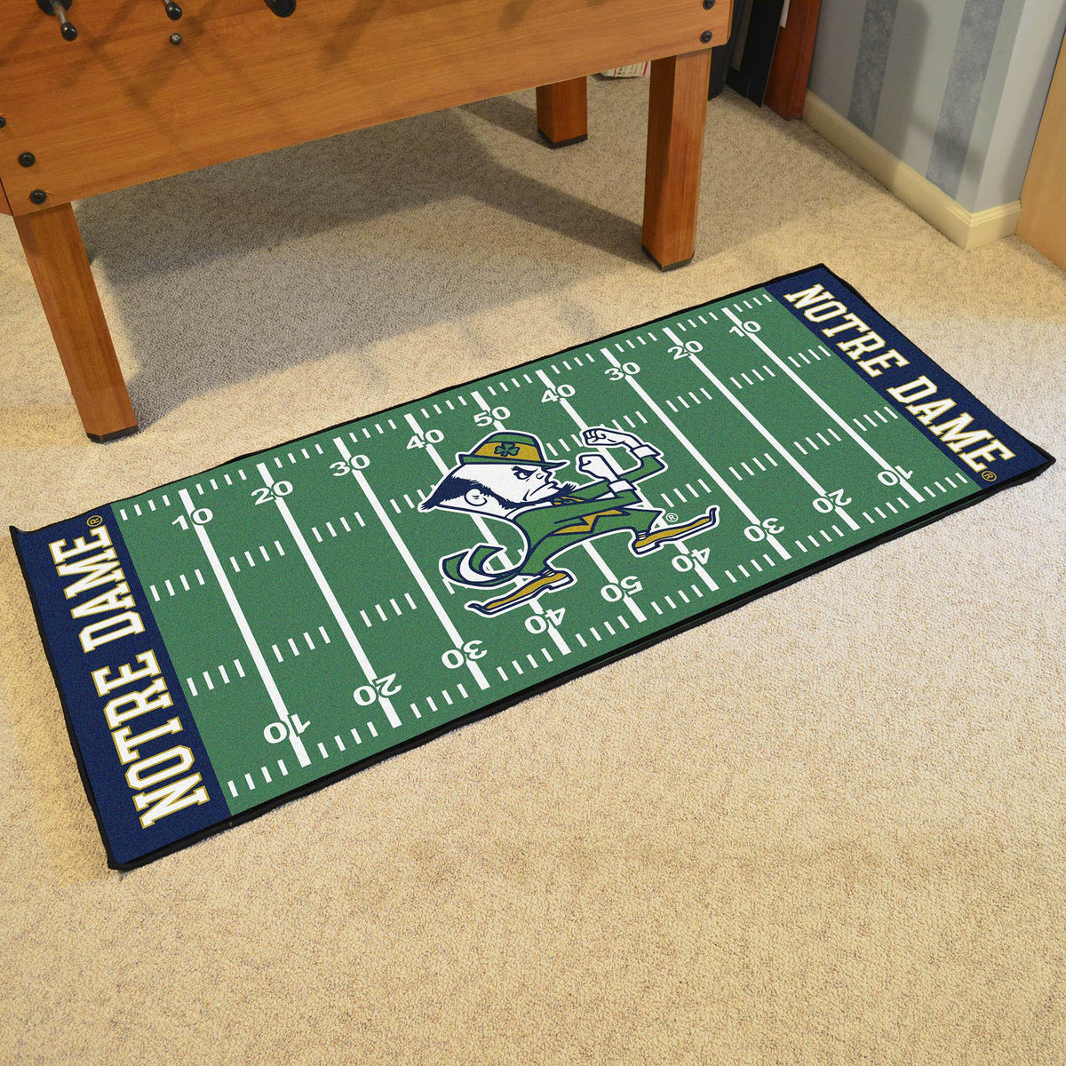 Collegiate - Football Field Runner Collegiate Mats, Rectangular Mats, Football Field Runner, Collegiate, Home Fan Mats Notre Dame