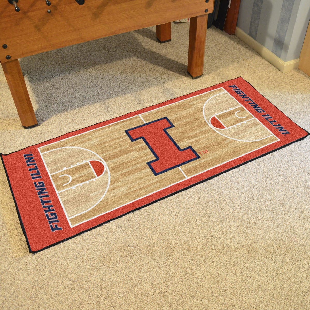 Collegiate - NCAA Basketball Runner Collegiate Mats, Rectangular Mats, NCAA Basketball Runner, Collegiate, Home Fan Mats Illinois