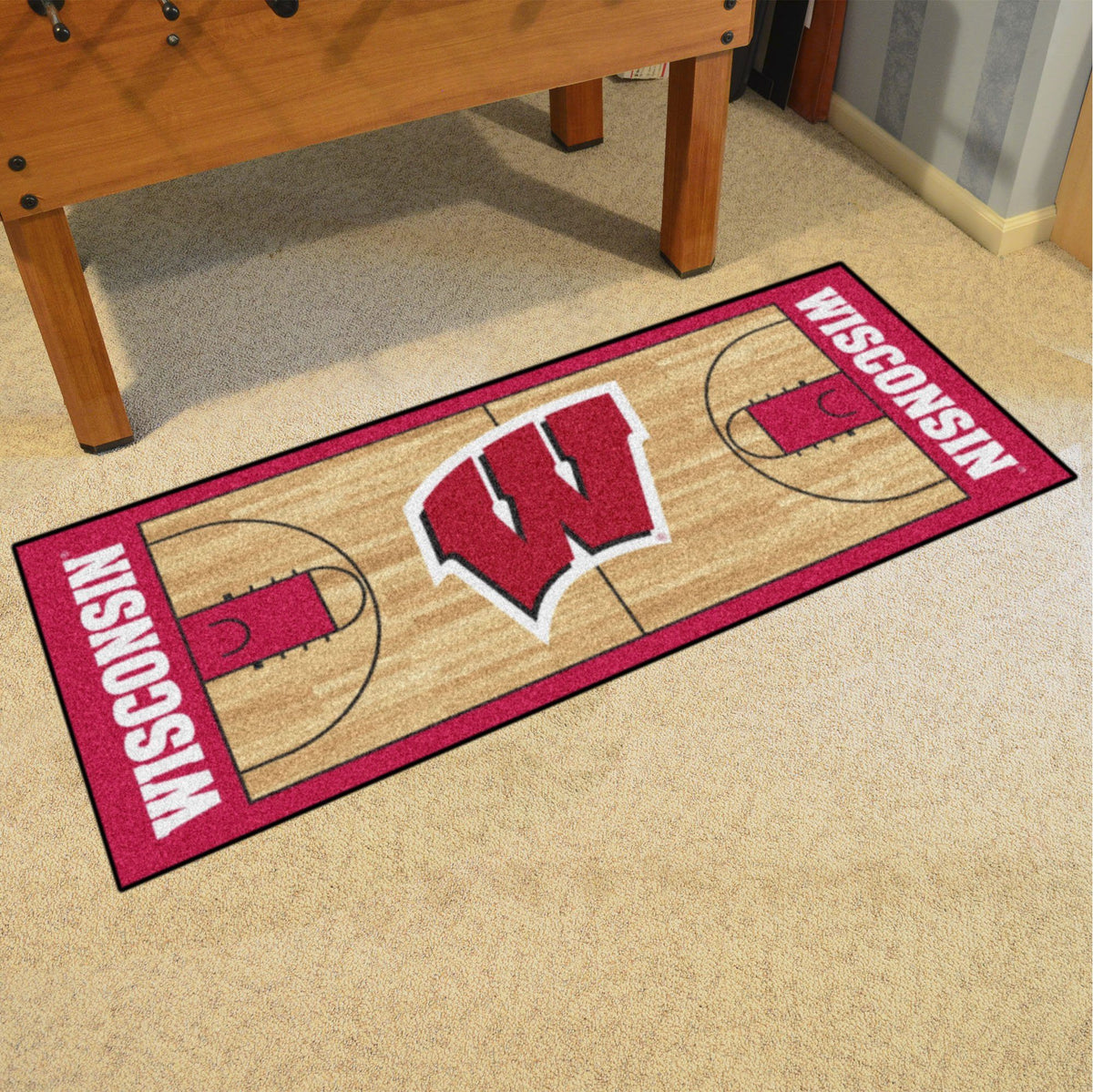 Collegiate - NCAA Basketball Runner Collegiate Mats, Rectangular Mats, NCAA Basketball Runner, Collegiate, Home Fan Mats Wisconsin