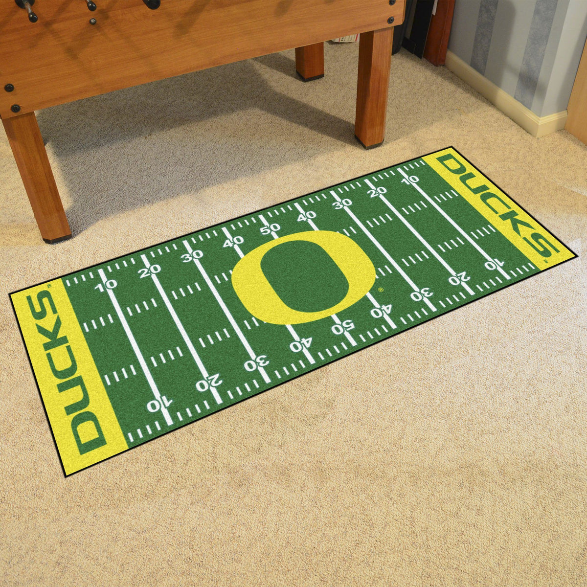 Collegiate - Football Field Runner Collegiate Mats, Rectangular Mats, Football Field Runner, Collegiate, Home Fan Mats Oregon