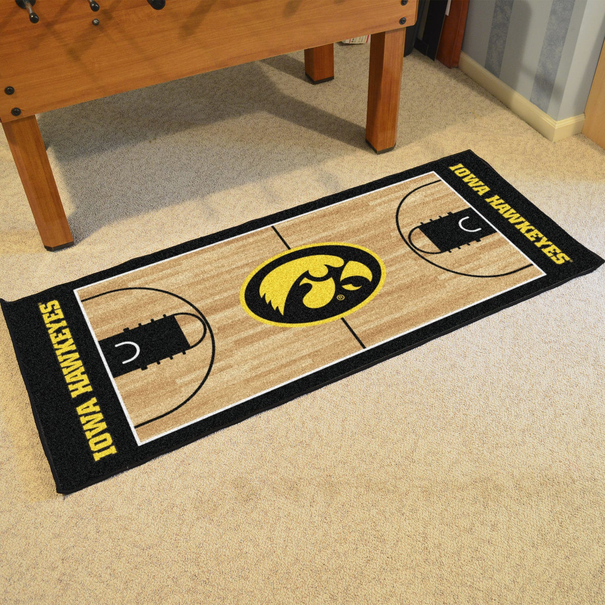 Collegiate - NCAA Basketball Runner Collegiate Mats, Rectangular Mats, NCAA Basketball Runner, Collegiate, Home Fan Mats Iowa