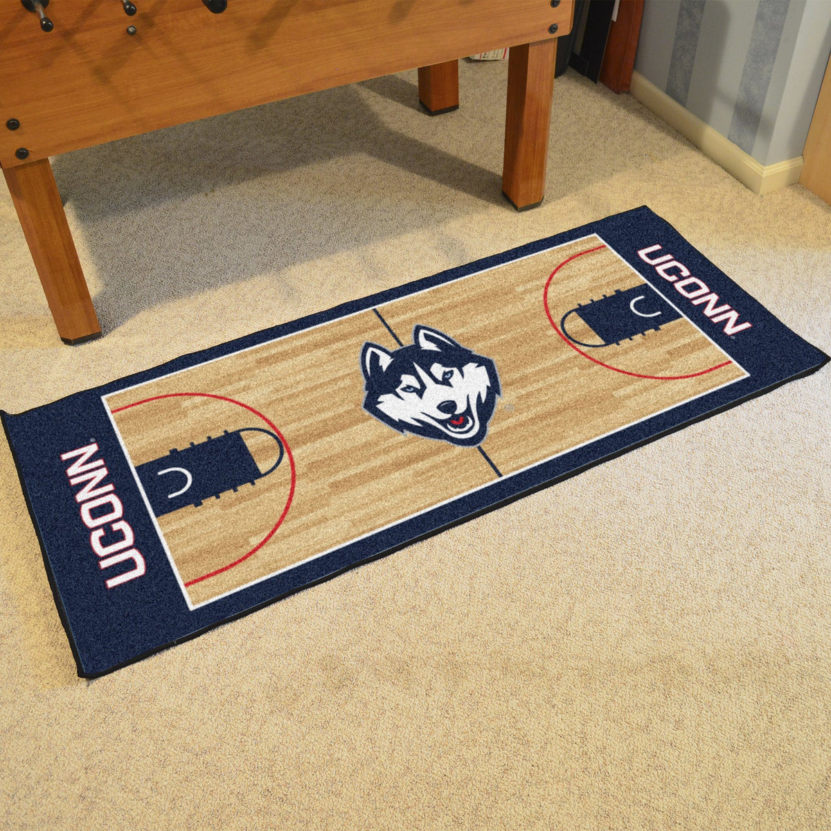 Collegiate - NCAA Basketball Runner Collegiate Mats, Rectangular Mats, NCAA Basketball Runner, Collegiate, Home Fan Mats Connecticut