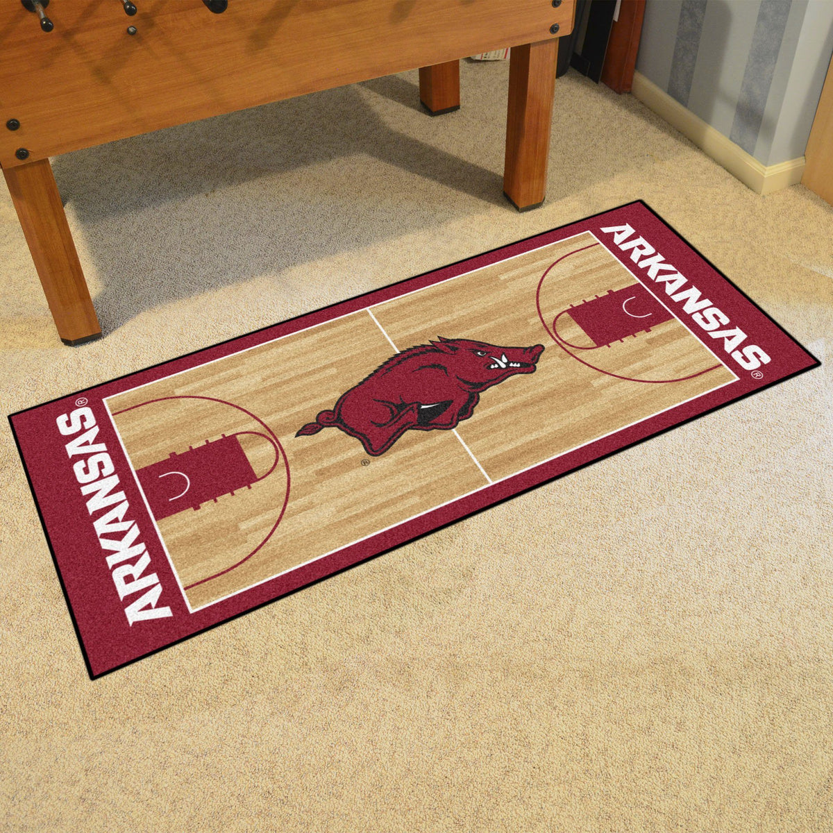 Collegiate - NCAA Basketball Runner Collegiate Mats, Rectangular Mats, NCAA Basketball Runner, Collegiate, Home Fan Mats Arkansas