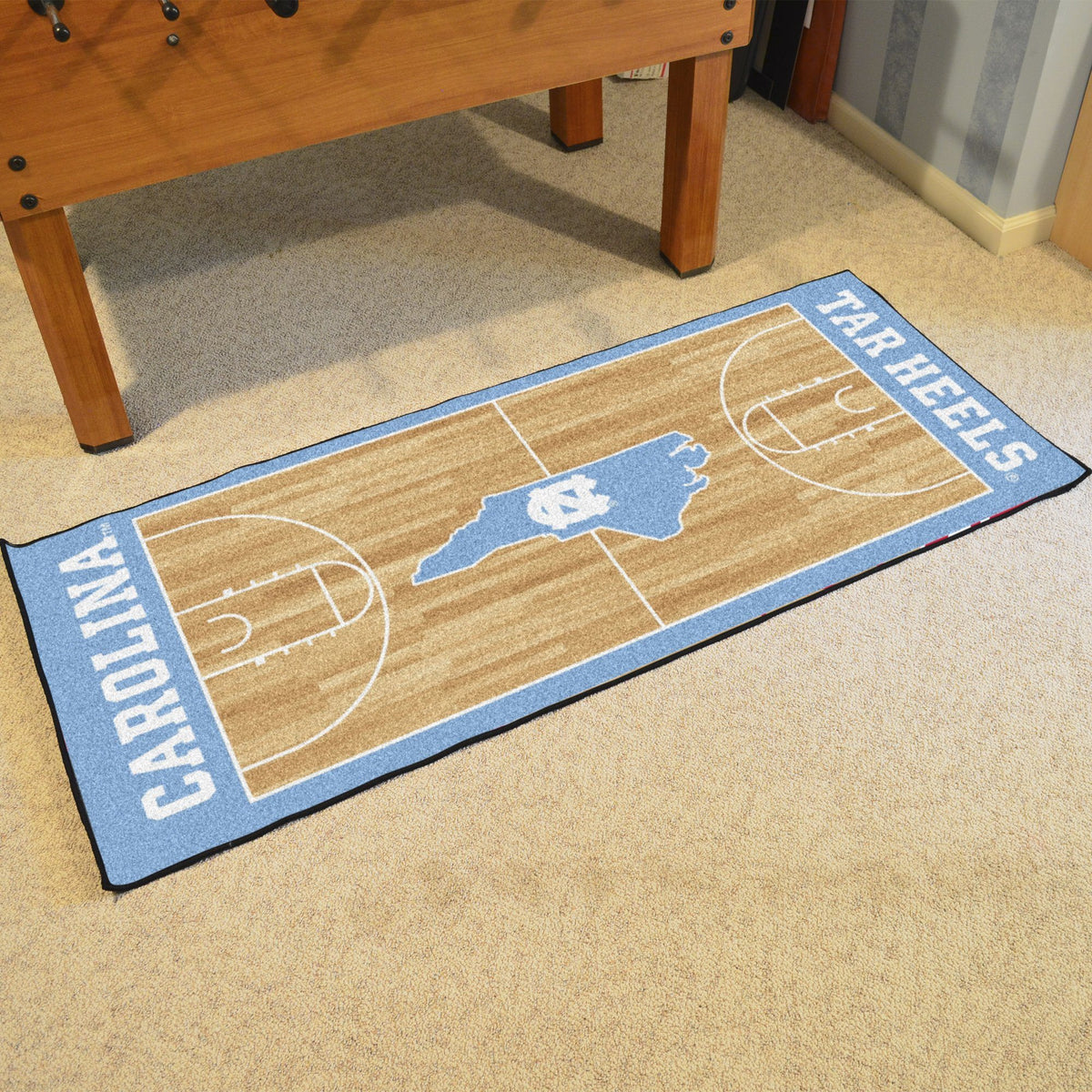 Collegiate - NCAA Basketball Runner Collegiate Mats, Rectangular Mats, NCAA Basketball Runner, Collegiate, Home Fan Mats North Carolina