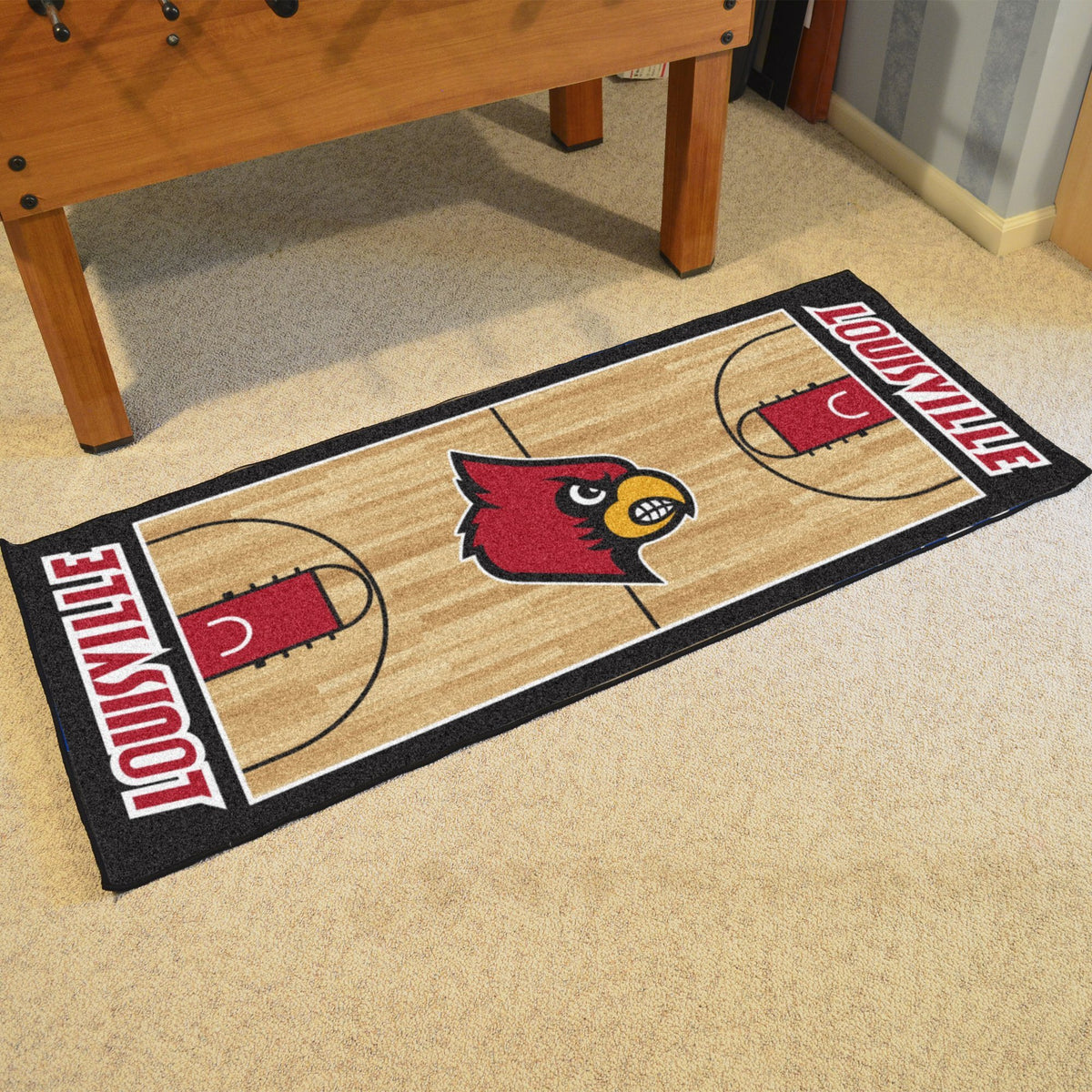 Collegiate - NCAA Basketball Runner Collegiate Mats, Rectangular Mats, NCAA Basketball Runner, Collegiate, Home Fan Mats Louisville