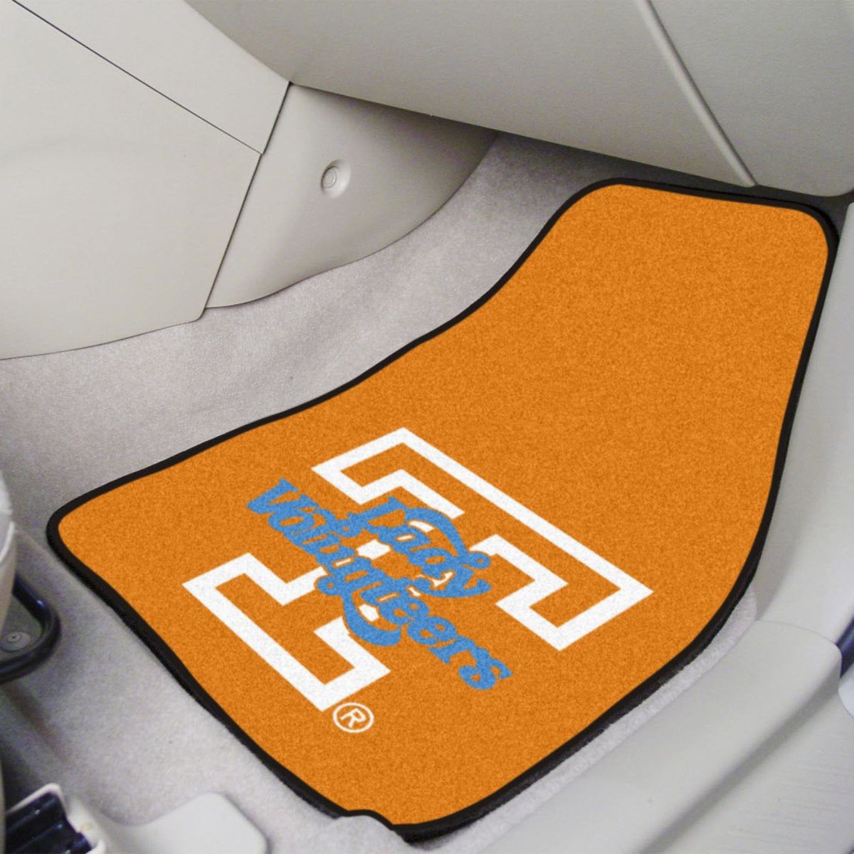 Collegiate - Carpet Car Mat, 2-Piece Set: T - Z Collegiate Car Mat, Front Car Mats, 2-pc Carpet Car Mat Set, Collegiate, Auto Fan Mats Tennessee 2