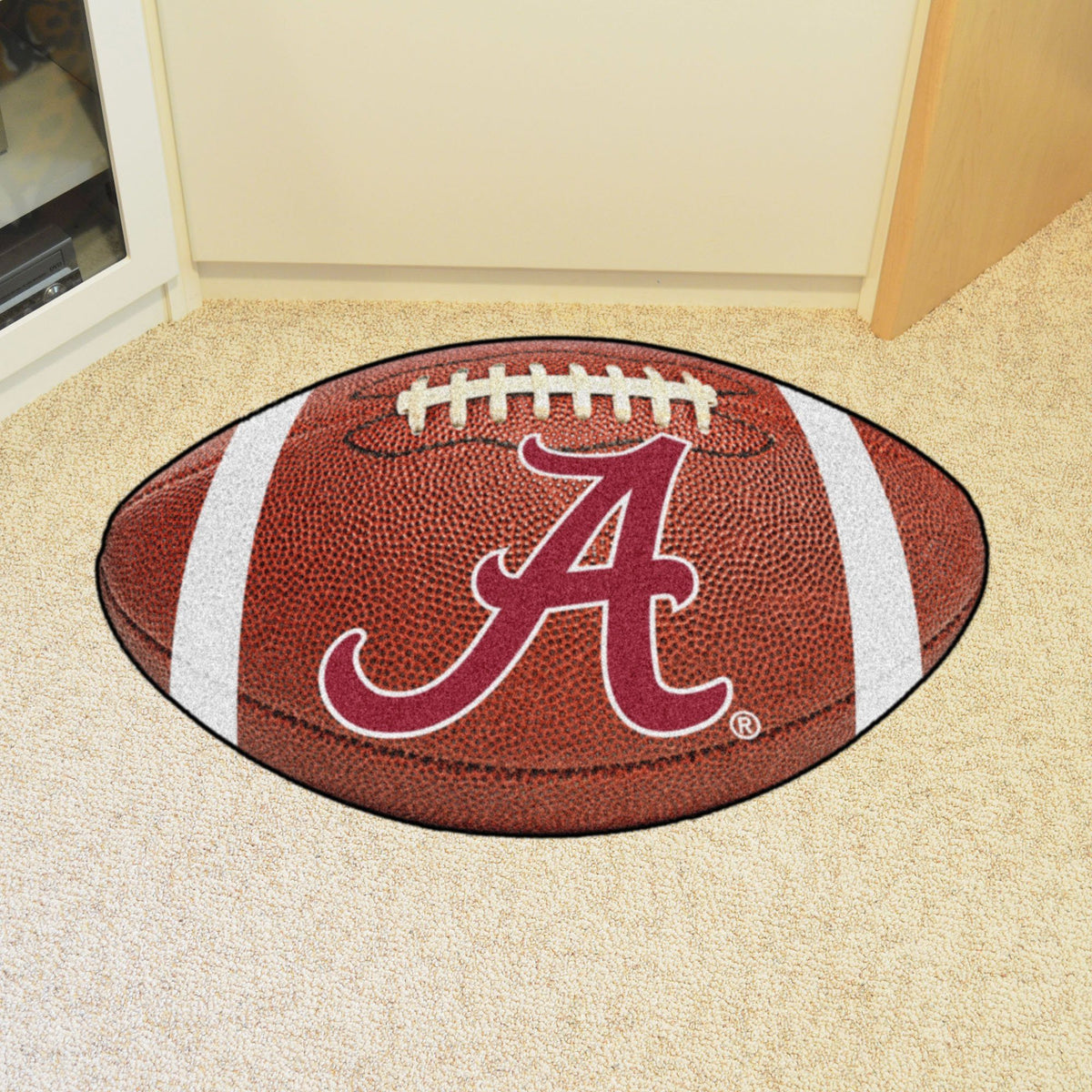 Collegiate - Football Mat: A - K Collegiate Mats, Rectangular Mats, Football Mat, Collegiate, Home Fan Mats Alabama 2