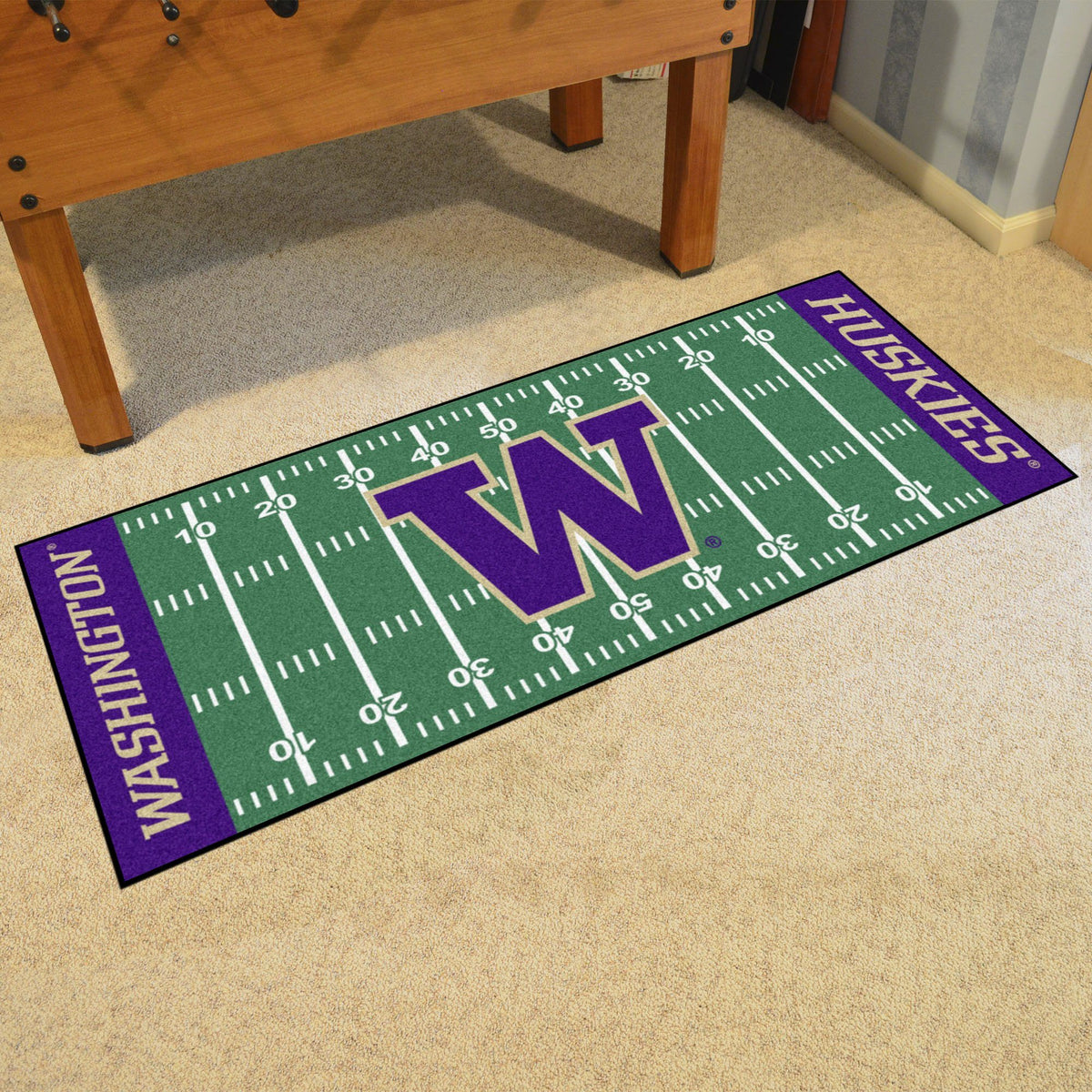 Collegiate - Football Field Runner Collegiate Mats, Rectangular Mats, Football Field Runner, Collegiate, Home Fan Mats Washington