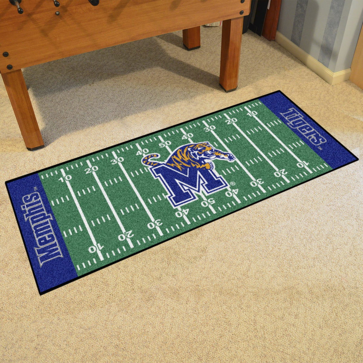 Collegiate - Football Field Runner Collegiate Mats, Rectangular Mats, Football Field Runner, Collegiate, Home Fan Mats Memphis