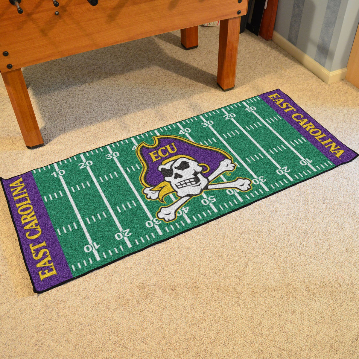 Collegiate - Football Field Runner Collegiate Mats, Rectangular Mats, Football Field Runner, Collegiate, Home Fan Mats East Carolina