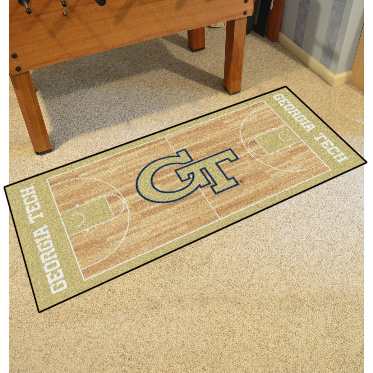 Collegiate - NCAA Basketball Runner Collegiate Mats, Rectangular Mats, NCAA Basketball Runner, Collegiate, Home Fan Mats Georgia Tech