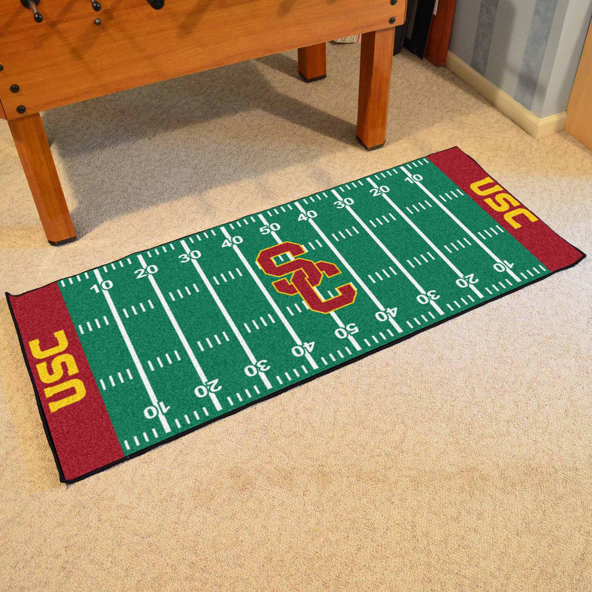 Collegiate - Football Field Runner Collegiate Mats, Rectangular Mats, Football Field Runner, Collegiate, Home Fan Mats Southern California