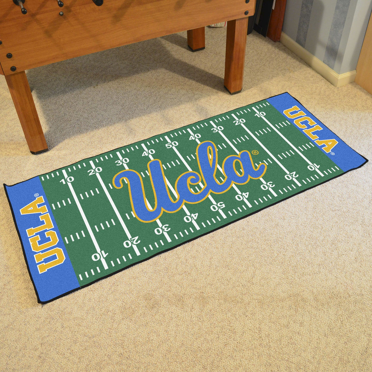 Collegiate - Football Field Runner Collegiate Mats, Rectangular Mats, Football Field Runner, Collegiate, Home Fan Mats UCLA