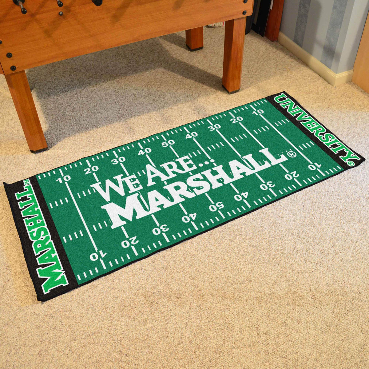 Collegiate - Football Field Runner Collegiate Mats, Rectangular Mats, Football Field Runner, Collegiate, Home Fan Mats Marshall 2