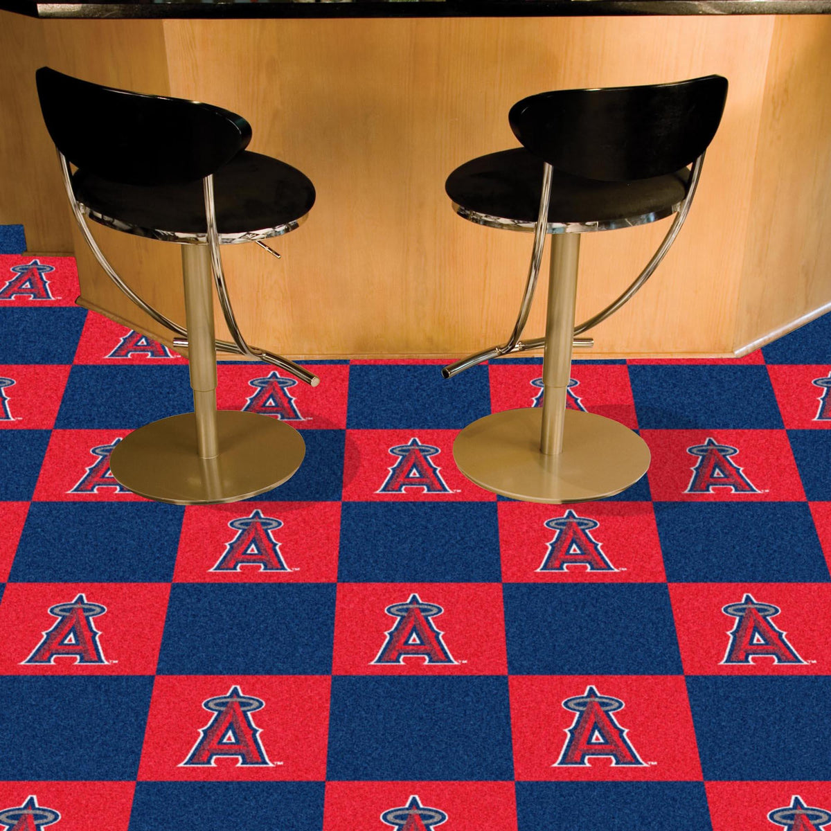 MLB - Team Carpet Tiles MLB Mats, Carpet Tile Flooring, Team Carpet Tiles, MLB, Home Fan Mats Los Angeles Angels