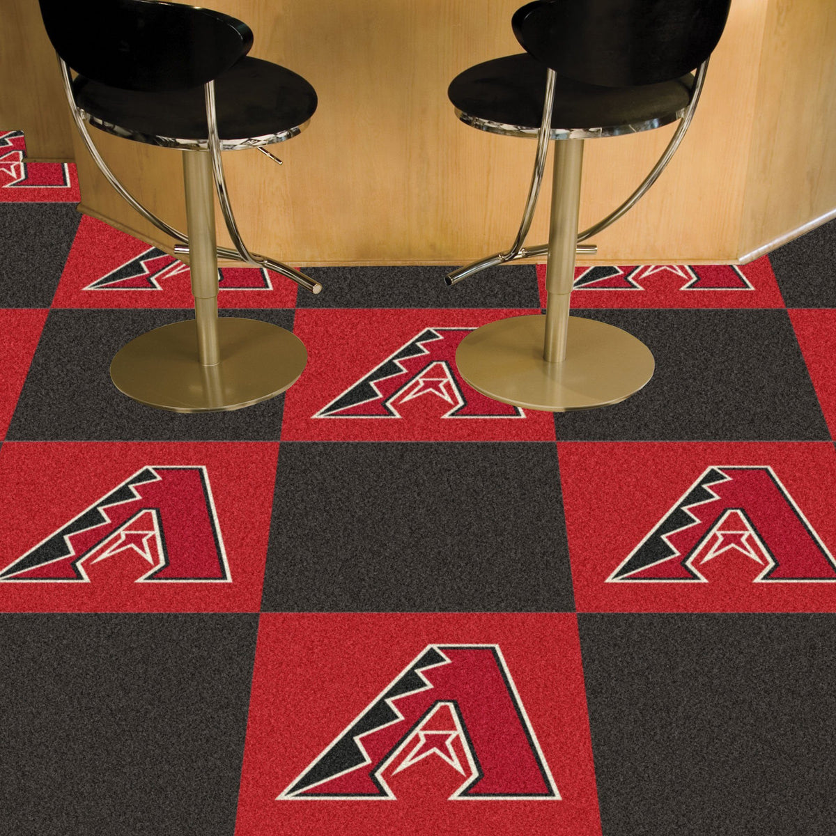 MLB - Team Carpet Tiles MLB Mats, Carpet Tile Flooring, Team Carpet Tiles, MLB, Home Fan Mats Arizona Diamondbacks