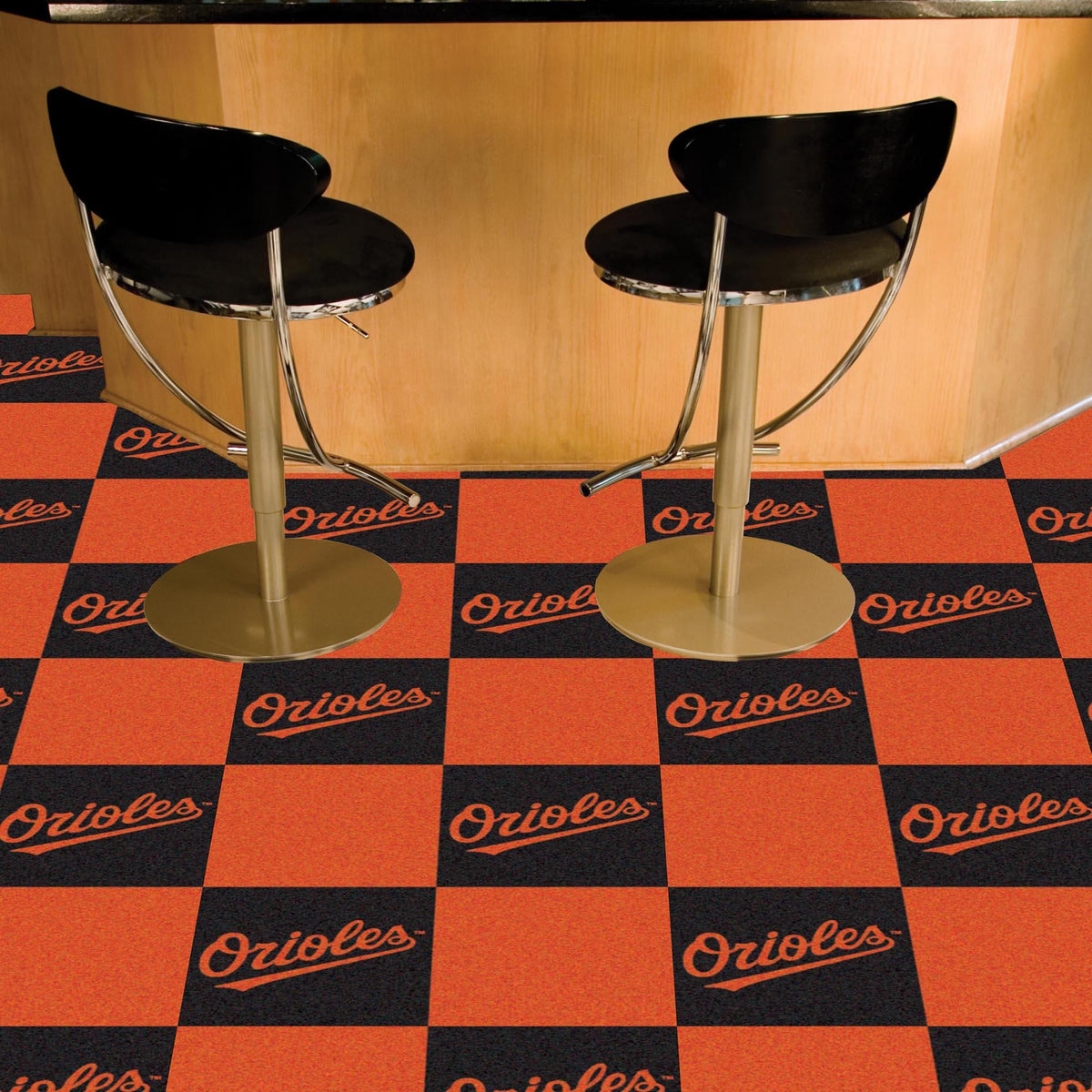 MLB - Team Carpet Tiles MLB Mats, Carpet Tile Flooring, Team Carpet Tiles, MLB, Home Fan Mats Baltimore Orioles