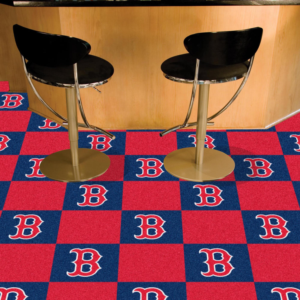 MLB - Team Carpet Tiles MLB Mats, Carpet Tile Flooring, Team Carpet Tiles, MLB, Home Fan Mats Boston Red Sox
