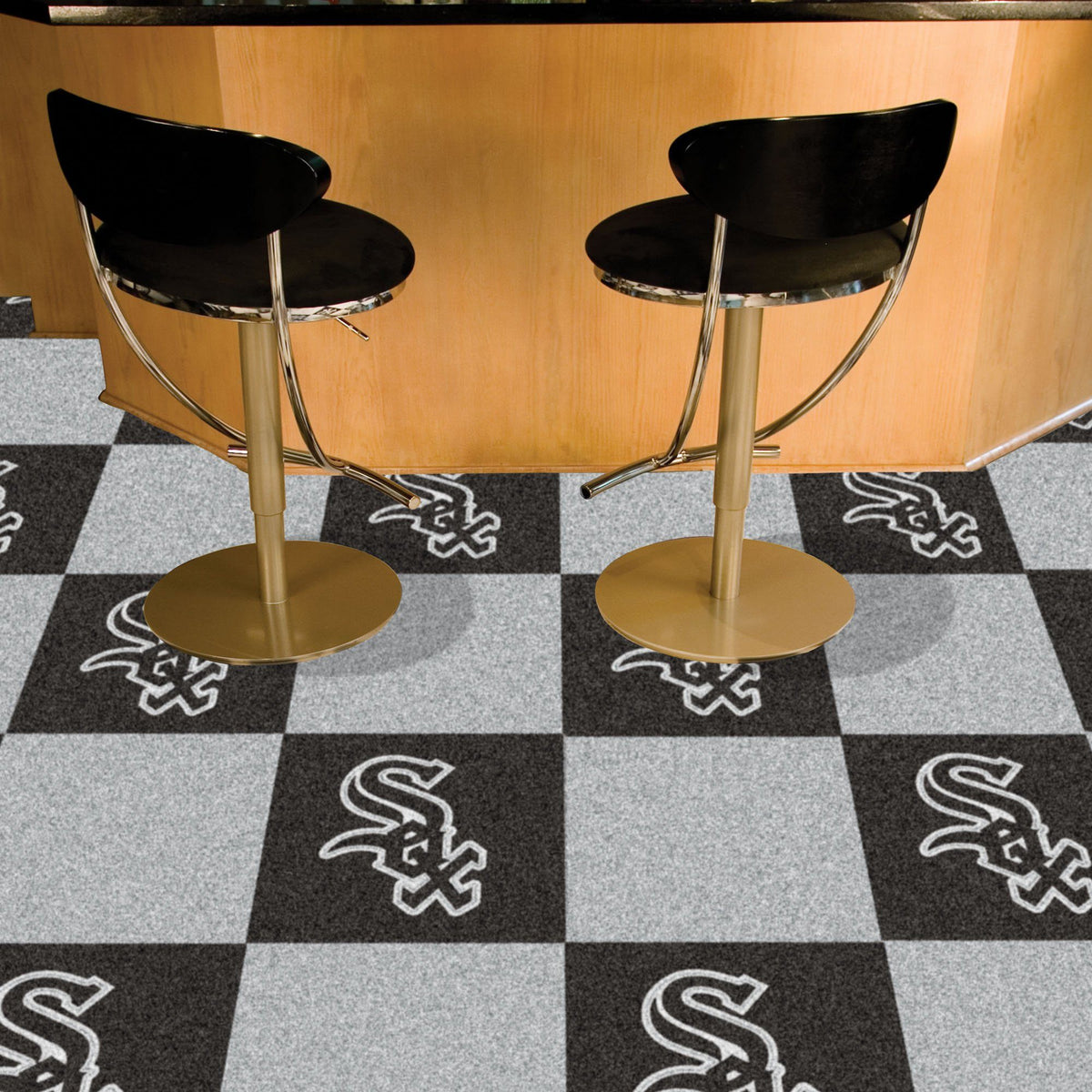 MLB - Team Carpet Tiles MLB Mats, Carpet Tile Flooring, Team Carpet Tiles, MLB, Home Fan Mats Chicago White Sox