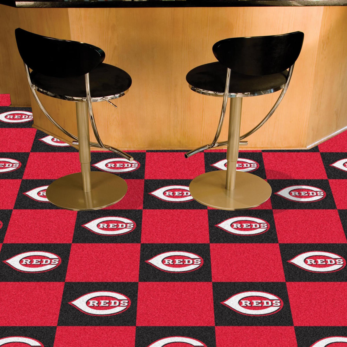 MLB - Team Carpet Tiles MLB Mats, Carpet Tile Flooring, Team Carpet Tiles, MLB, Home Fan Mats Cincinnati Reds
