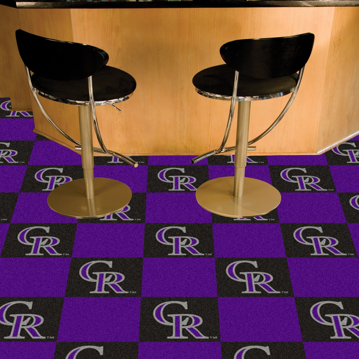 MLB - Team Carpet Tiles MLB Mats, Carpet Tile Flooring, Team Carpet Tiles, MLB, Home Fan Mats Colorado Rockies