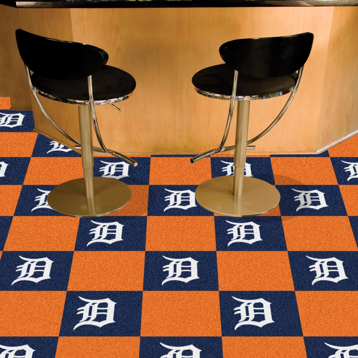 MLB - Team Carpet Tiles MLB Mats, Carpet Tile Flooring, Team Carpet Tiles, MLB, Home Fan Mats Detroit Tigers