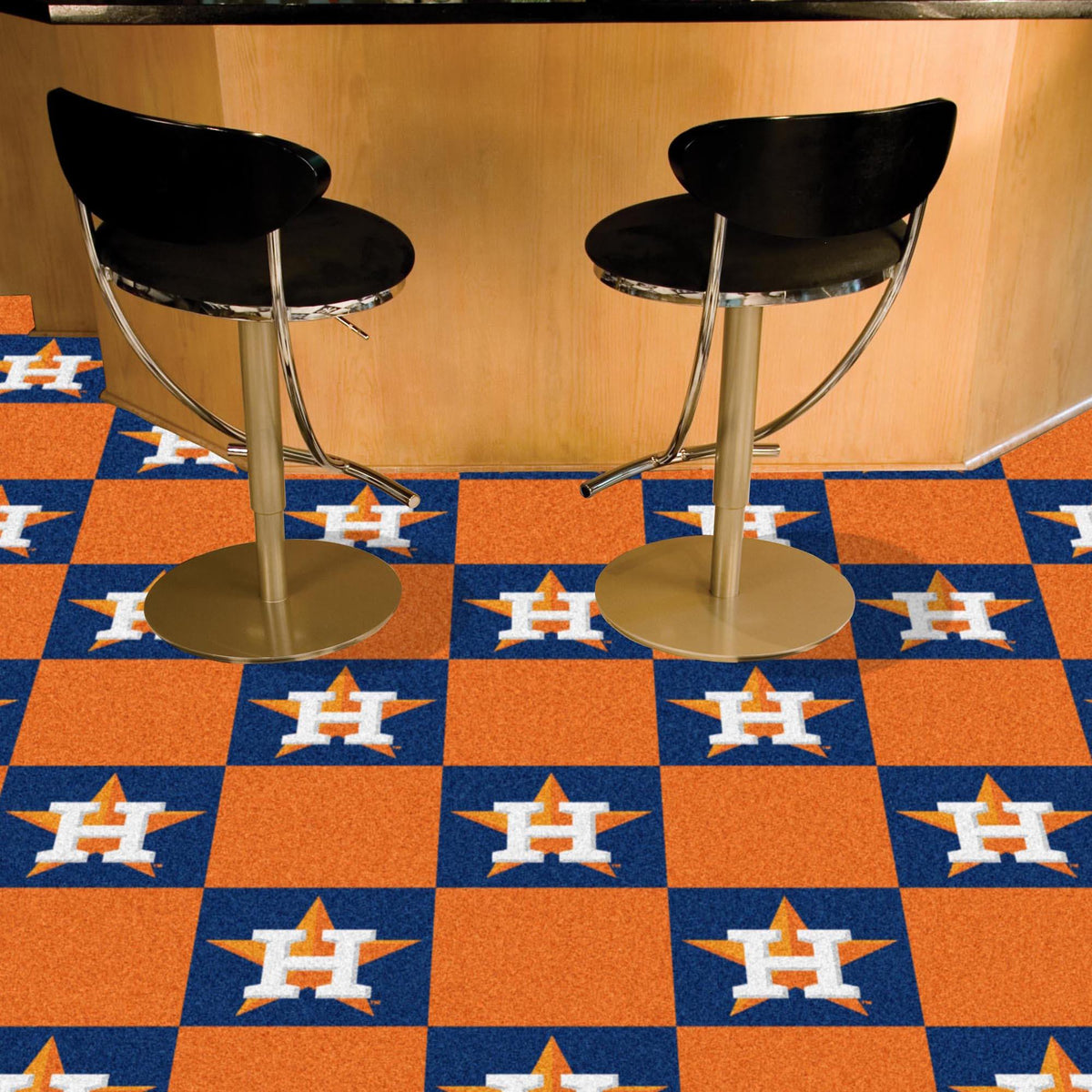MLB - Team Carpet Tiles MLB Mats, Carpet Tile Flooring, Team Carpet Tiles, MLB, Home Fan Mats Houston Astros