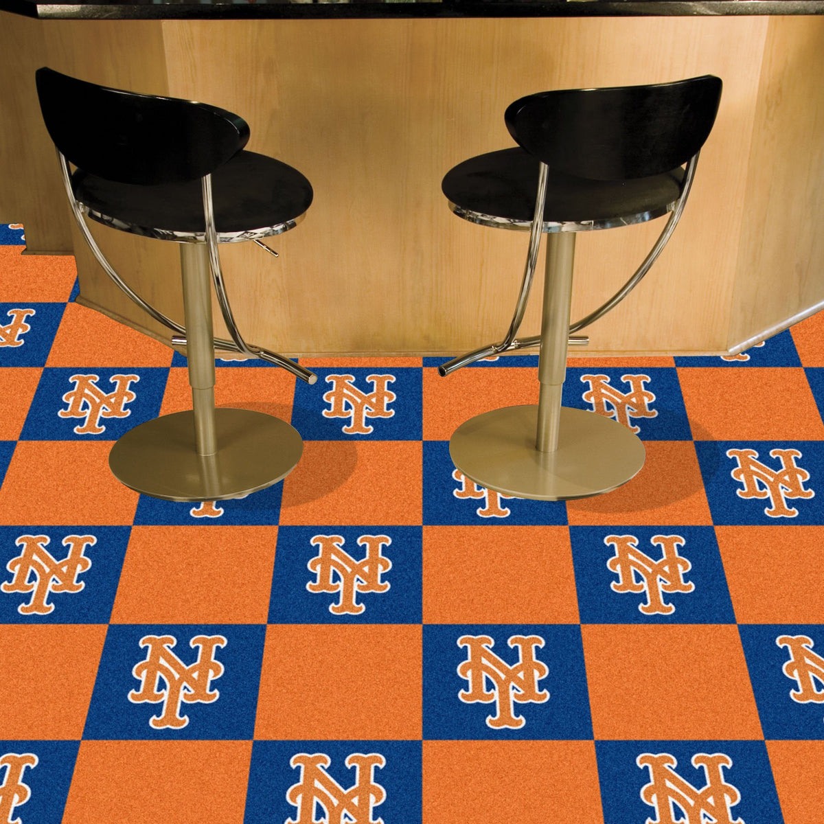 MLB - Team Carpet Tiles MLB Mats, Carpet Tile Flooring, Team Carpet Tiles, MLB, Home Fan Mats New York Mets