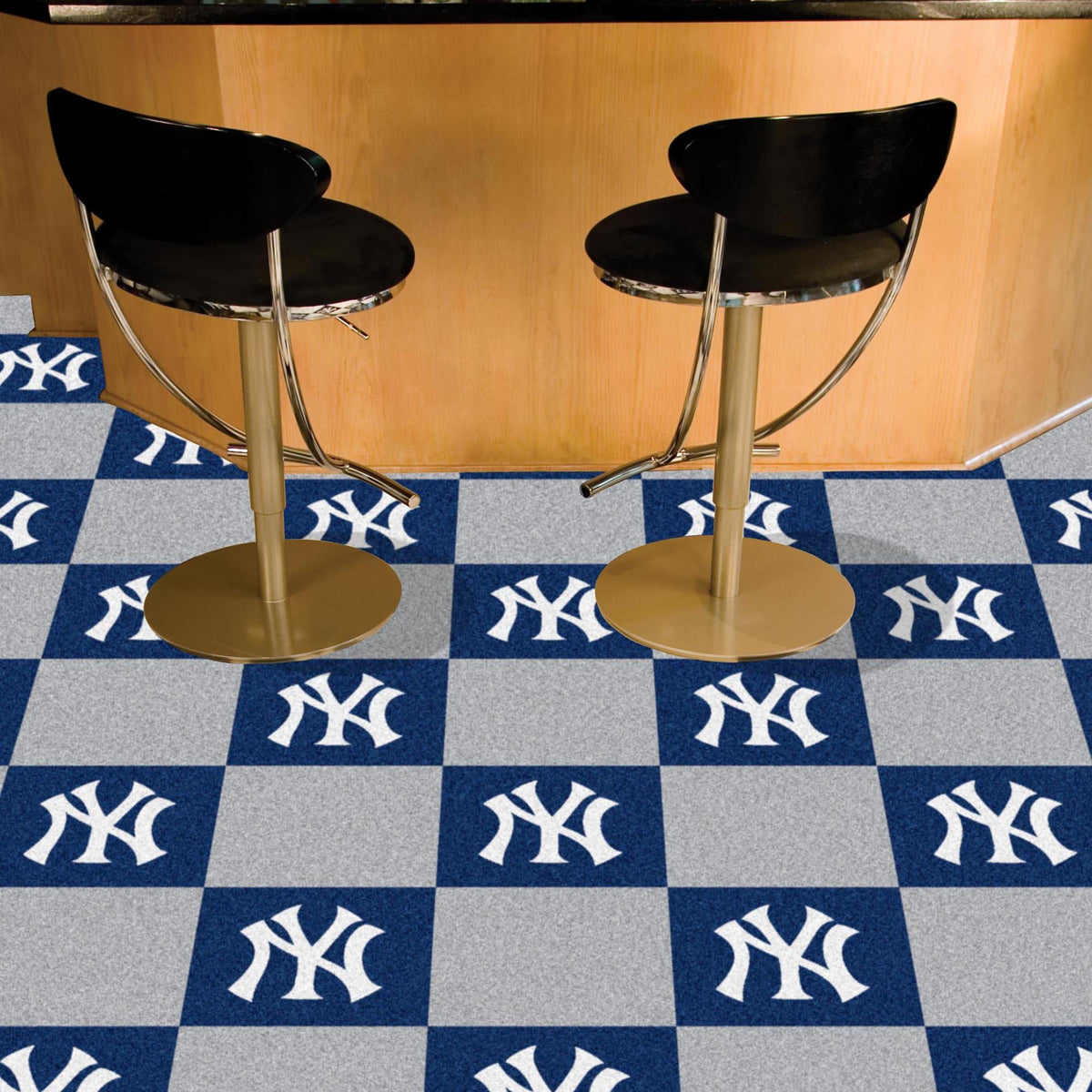 MLB - Team Carpet Tiles MLB Mats, Carpet Tile Flooring, Team Carpet Tiles, MLB, Home Fan Mats New York Yankees