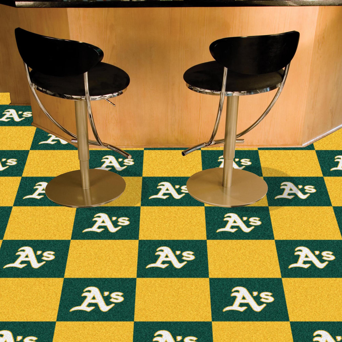 MLB - Team Carpet Tiles MLB Mats, Carpet Tile Flooring, Team Carpet Tiles, MLB, Home Fan Mats Oakland Athletics