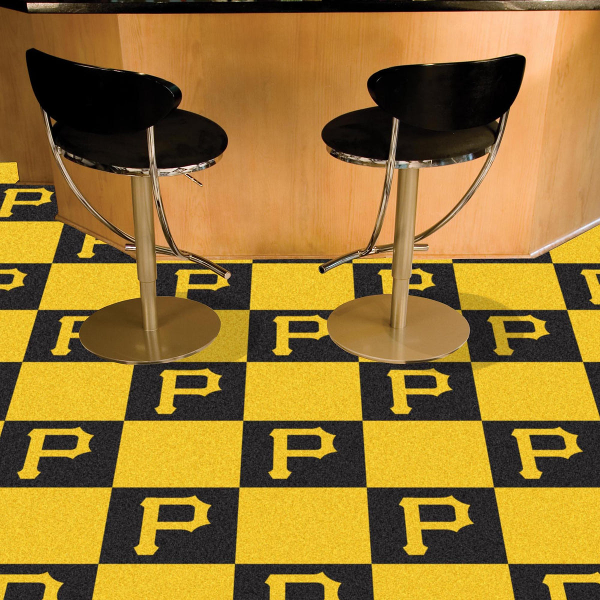 MLB - Team Carpet Tiles MLB Mats, Carpet Tile Flooring, Team Carpet Tiles, MLB, Home Fan Mats Pittsburgh Pirates